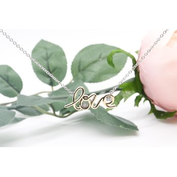 Two-Toned LOVE Necklace