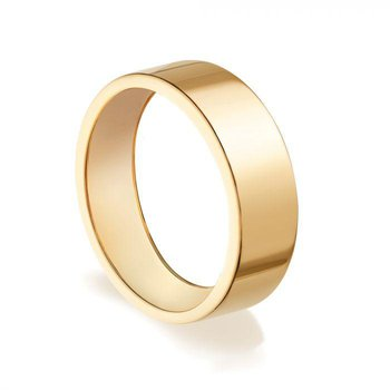 BIRKS ESSENTIALS 5mm Yellow Gold Square Band Ring