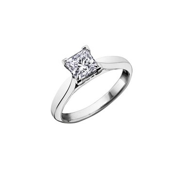 1.01CT Princess-Cut Solitaire Ring