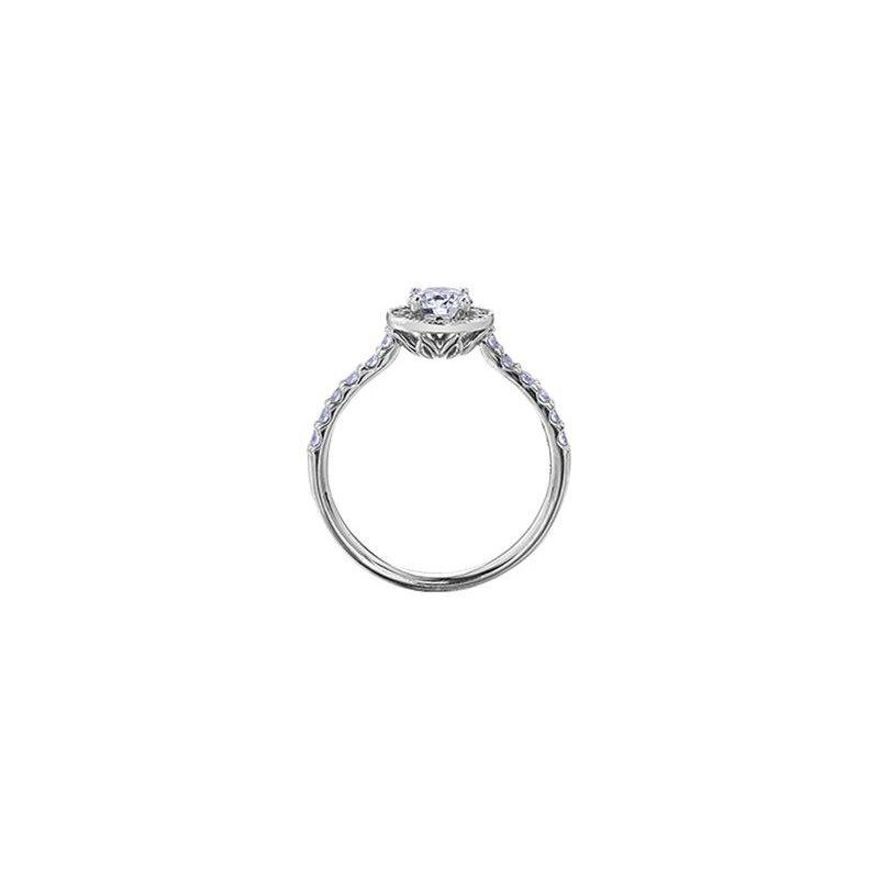 Maple Leaf Diamonds Halo Diamond Ring
