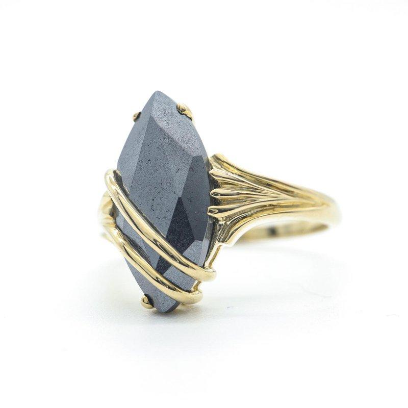 Diamond Days Hematite Ring