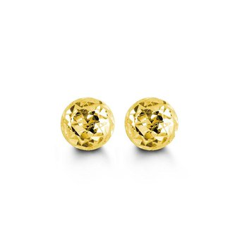 10K Yellow Gold Ball Studs