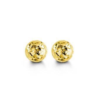 10K Yellow Gold Ball Studs