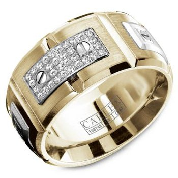 18K Two Tone Men's Diamond Ring
