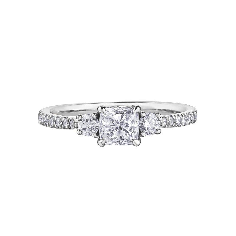 Maple Leaf Diamonds Cushion-Cut Diamond Ring