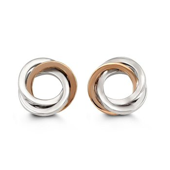 Two-Toned Circle Studs