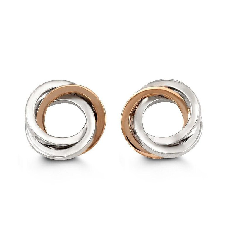 Richardson Signature Two-Toned Circle Studs
