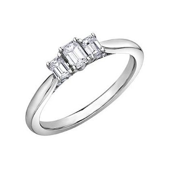 3 Stone Emerald-Cut Ring