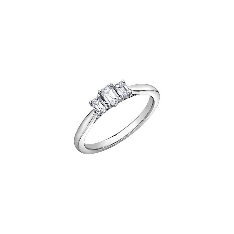 Diamond Days 3 Stone Emerald-Cut Ring