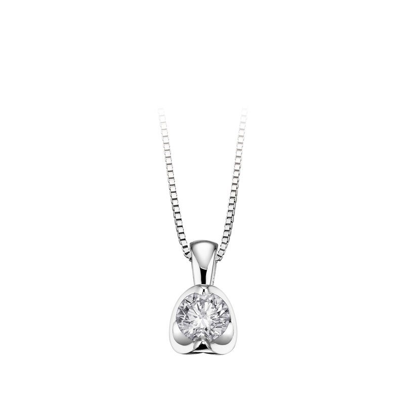 Maple Leaf Diamonds Canadian 0.21CT Diamond Solitaire Pendant