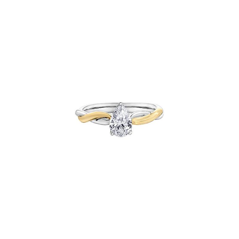 Maple Leaf Diamonds Pear-Shaped Diamond Engagement Ring