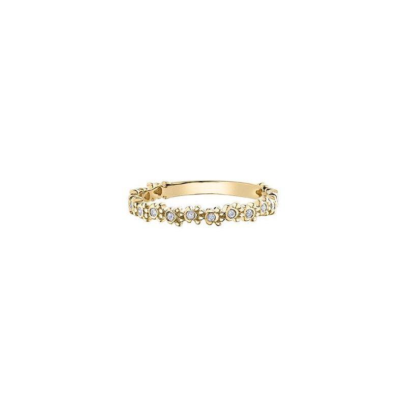 Diamond Days Yellow Gold Paw Print Diamond Ring