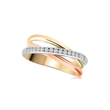Tri-Gold Diamond Ring