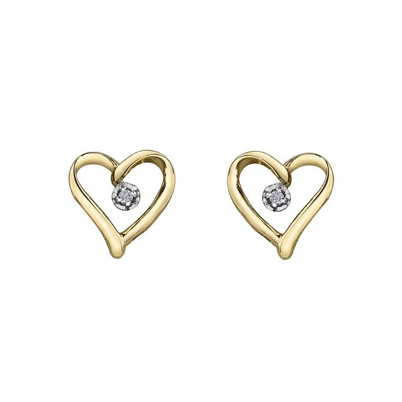 Forever Jewellery Diamond Heart Studs