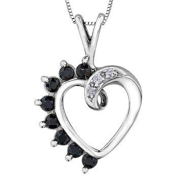 Sapphire Heart Pendant