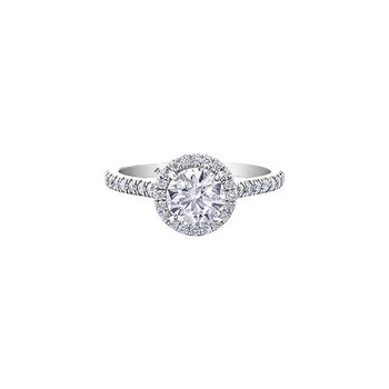 Classic Halo 1.00CT Diamond Ring