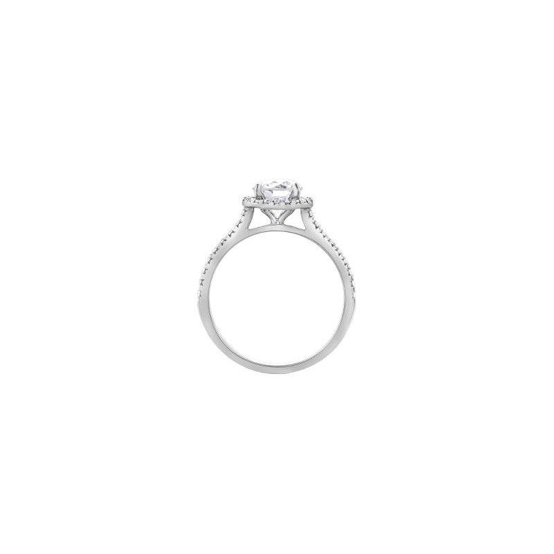 Maple Leaf Diamonds Classic Halo 1.00CT Diamond Ring
