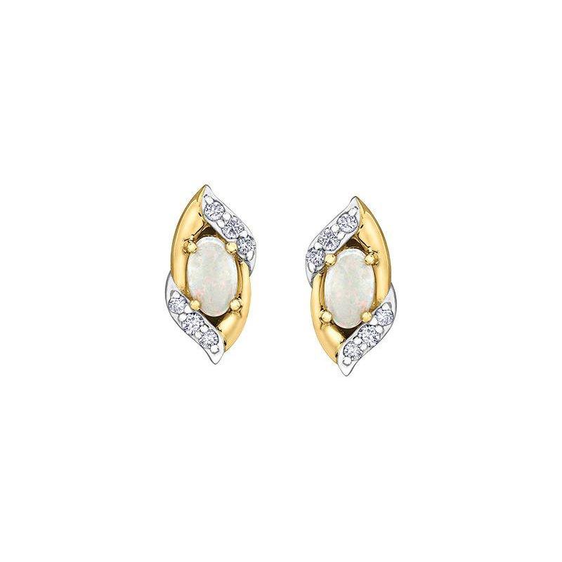 Diamond Days Opal & Diamond Studs