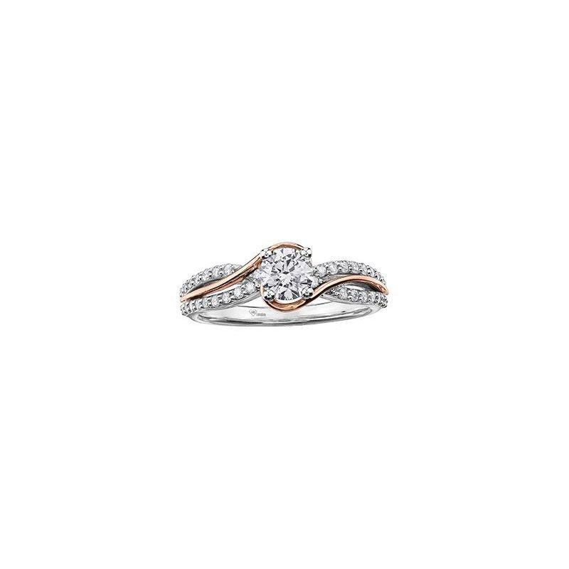 Maple Leaf Diamonds 0.52CT Diamond Two-Tone Twist Engagement Ring