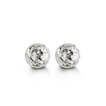 White Gold Ball Studs