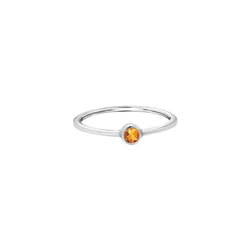 Diamond Days Citrine Birthstone Ring