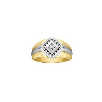 Two-Tone Men's Diamond Ring