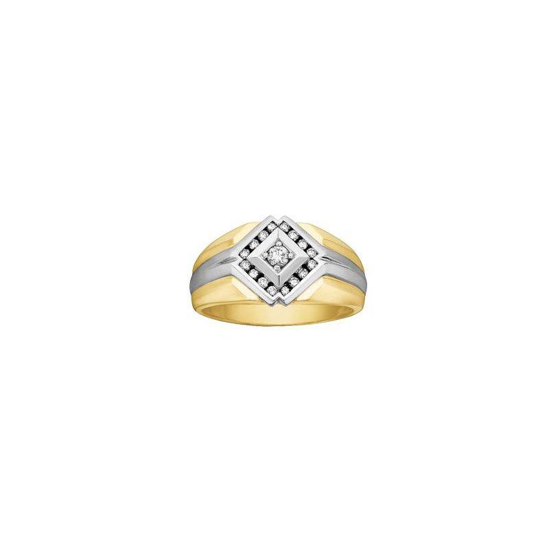 Diamond Days Two-Tone Men's Diamond Ring