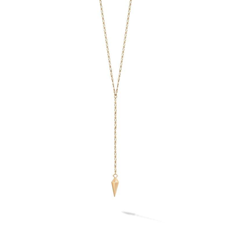 Bijoux Birks BIRKS ICONIC Yellow Gold Rock & Pearl Lariat Necklace