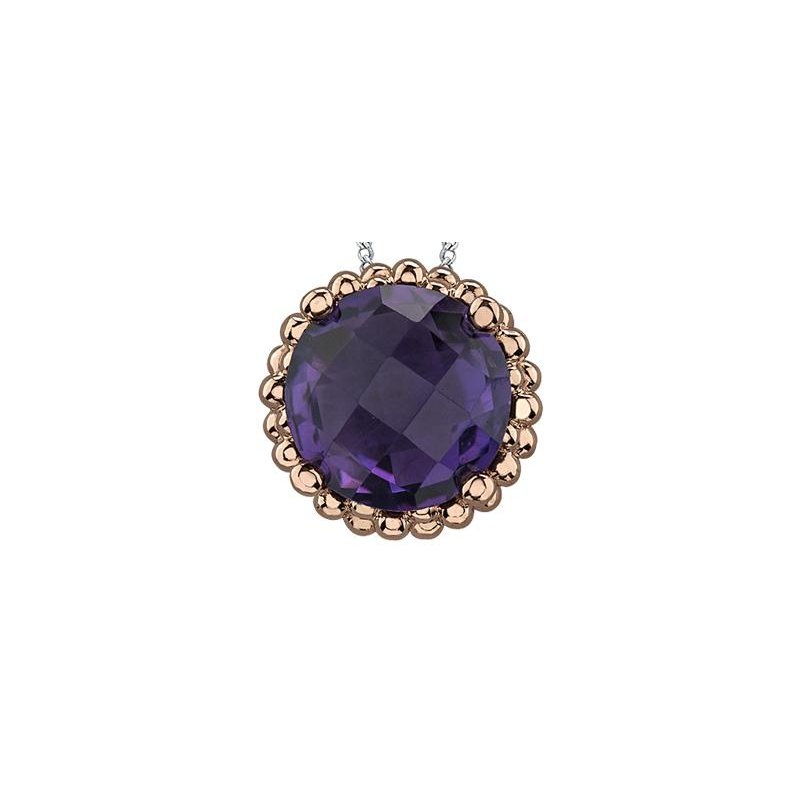 Diamond Days Amethyst Pendant