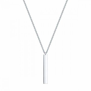 BIRKS ESSENTIALS Silver Vertical Bar Necklace