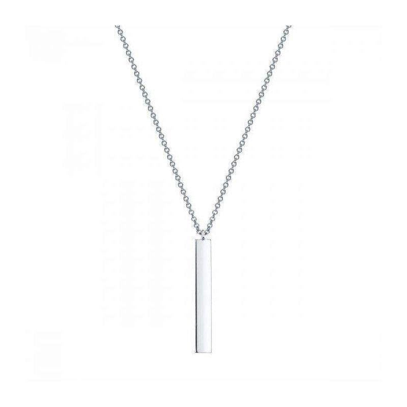 Bijoux Birks BIRKS ESSENTIALS Silver Vertical Bar Necklace