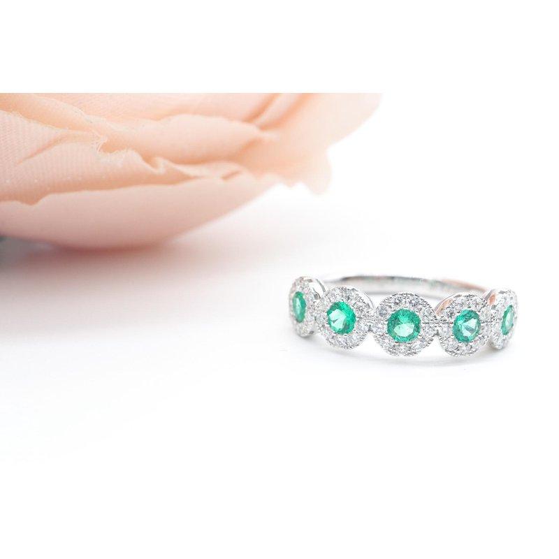 S.KASHI Emerald and Diamond Ring