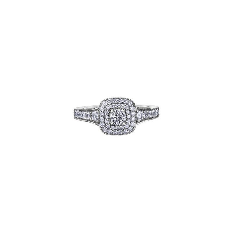 Maple Leaf Diamonds  Double Halo Diamond Ring