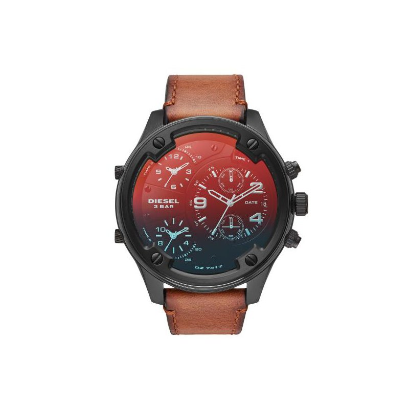 Diesel Brown Leather Strap Watch