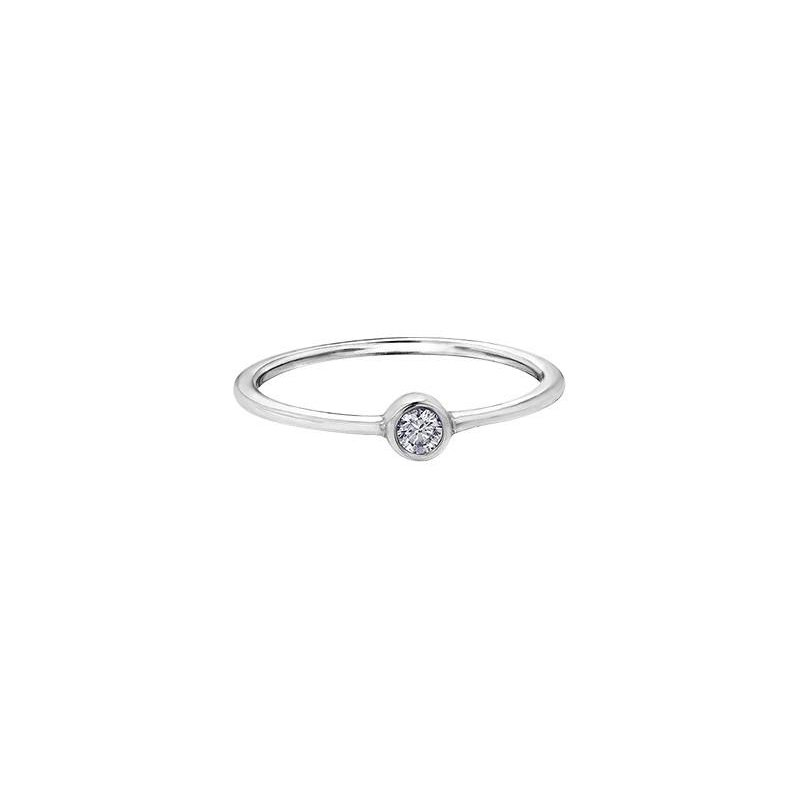 Diamond Days White Topaz Birthstone Ring
