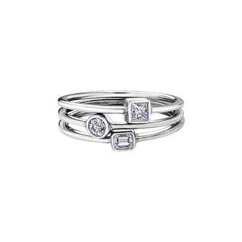 White Topaz Birthstone Ring