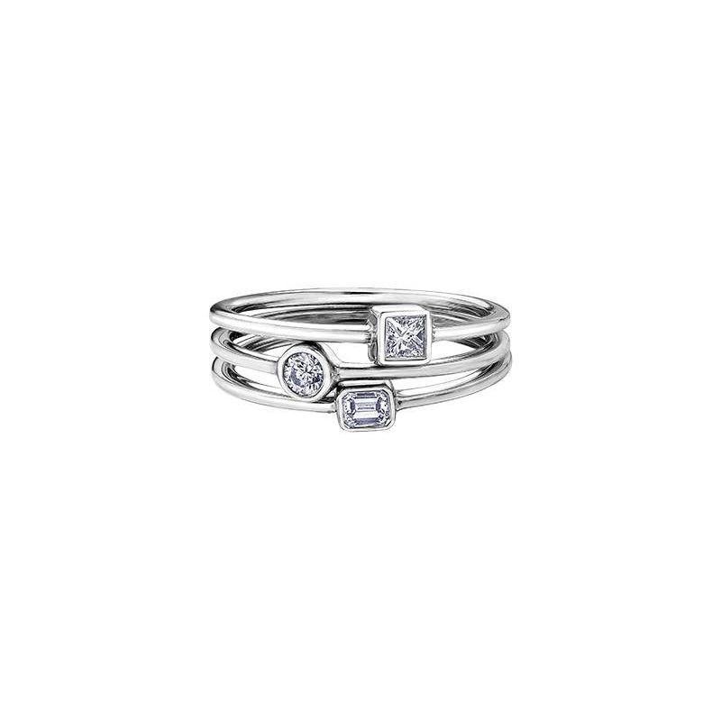 Diamond Days White Topaz Birthstone Ring