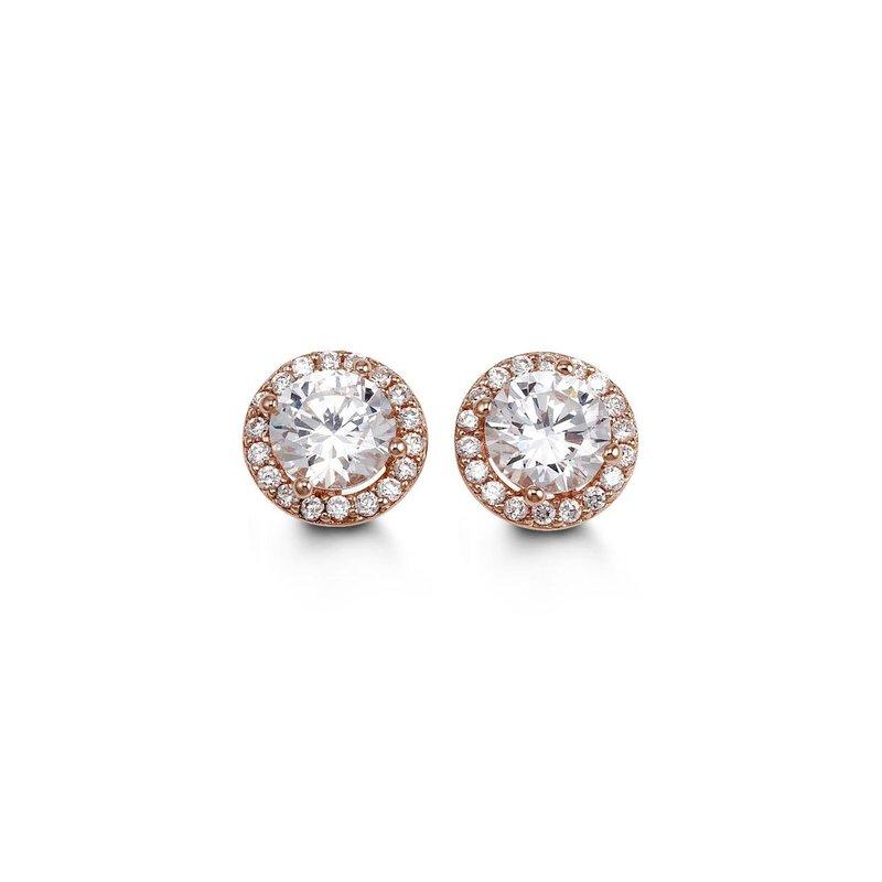 Richardson Signature Cubic Zirconia Halo Stud Earrings