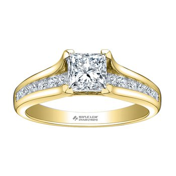 0.74CT Princess-Cut Engagement Ring