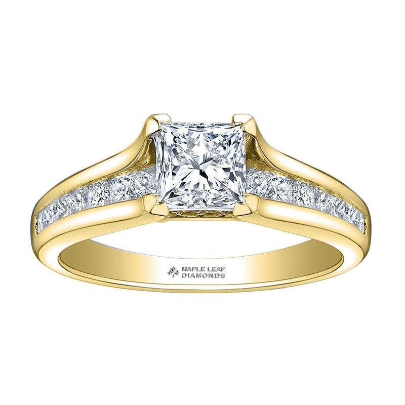 Maple Leaf Diamonds 0.74CT Princess-Cut Engagement Ring