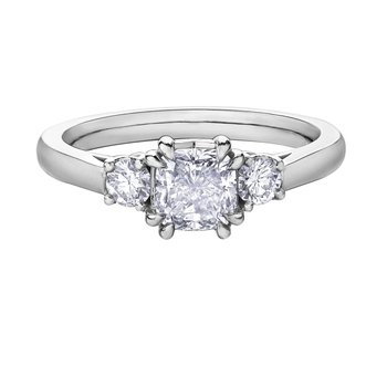 1.00CT Cushion Cut Diamond Ring