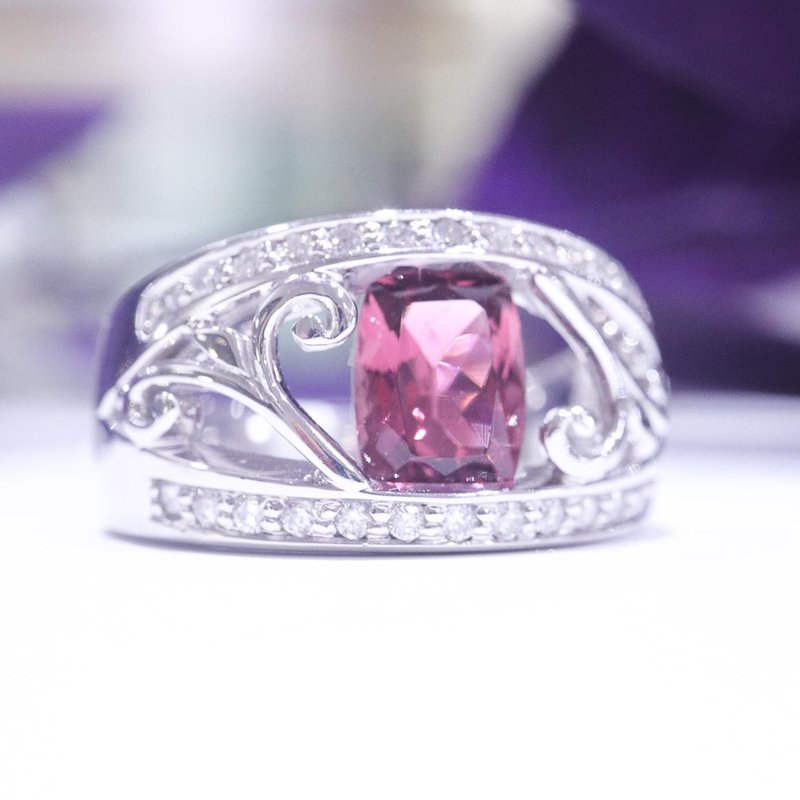 Diamond Days Pink Tourmaline Ring