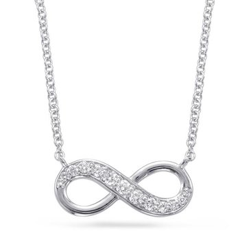White Gold Infinity Diamono Necklace