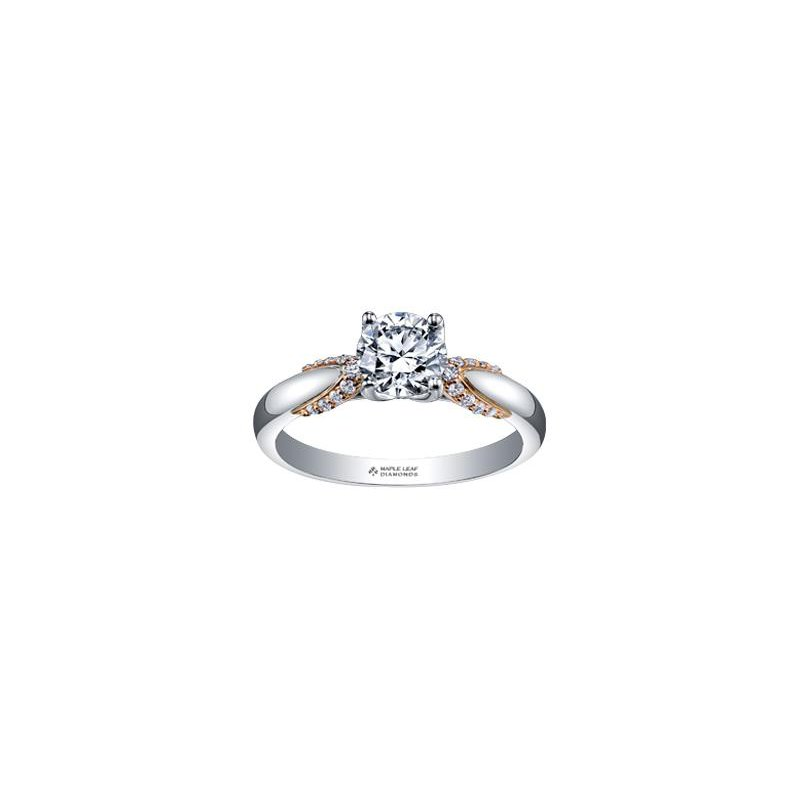 Maple Leaf Diamonds Solitaire Engagement Ring