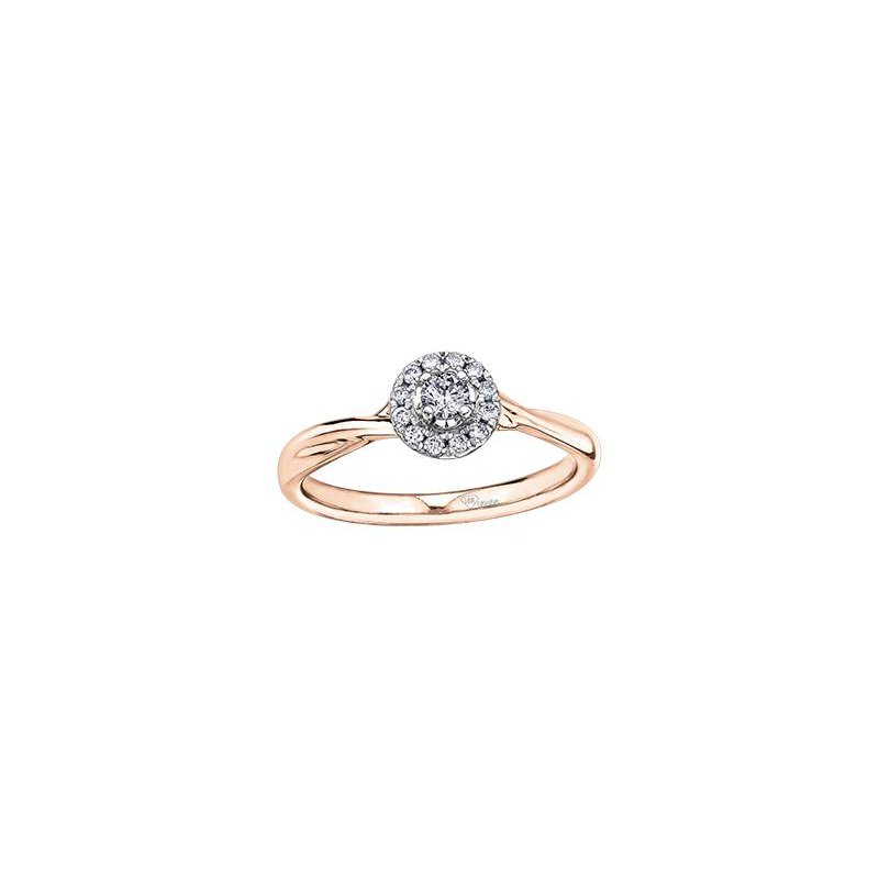 Diamond Days Rose Gold Halo Diamond Ring