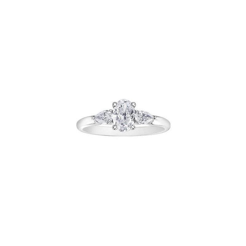 Maple Leaf Diamonds Oval- Shaped Diamond Engagement Ring