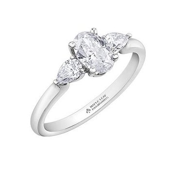 Oval- Shaped Diamond Engagement Ring