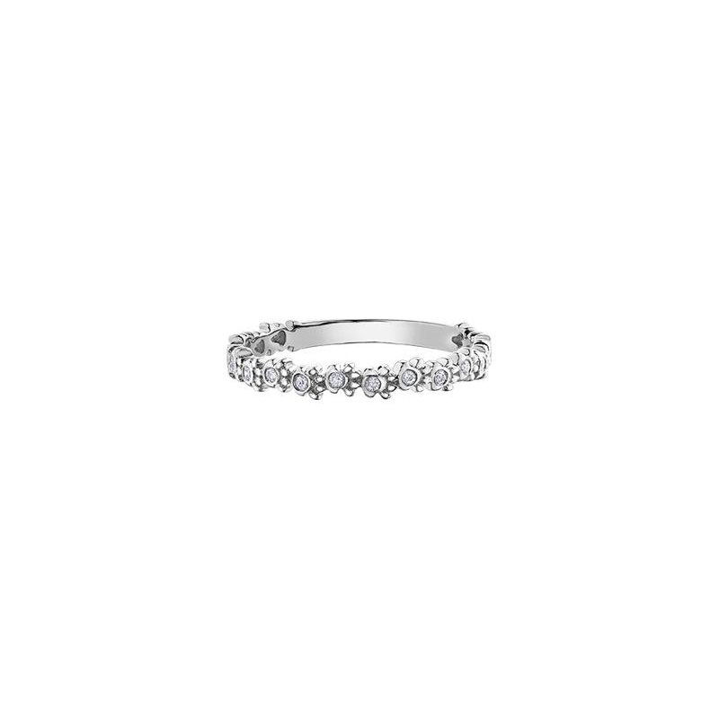 Diamond Days White Gold Paw Print Diamond Ring