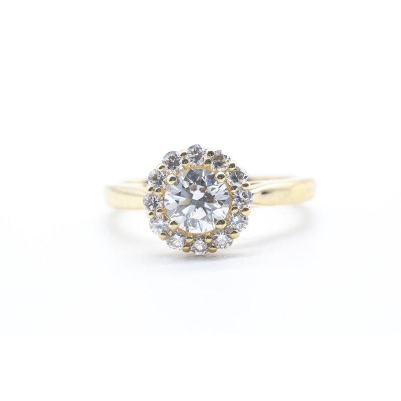 Maple Leaf Diamonds 0.50CT Diamond Halo Ring