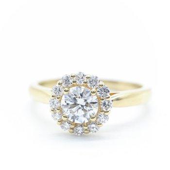 0.50CT Diamond Halo Ring